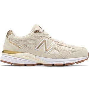 🆕 New Balance 990v4 Men's Running - Angora/Gold